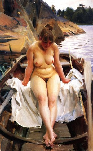 Anders Zorn - I Werners Eka (In Werner's Rowing Boat)