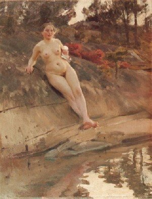 Anders Zorn - Solbadande flicka (Sunbathing girl)