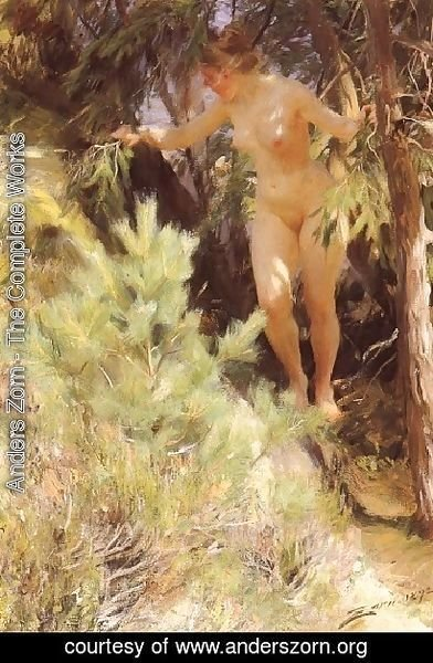 Naken under en gran (Nude under a fir)