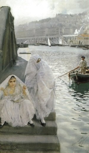 Anders Zorn - I Algers Hamn (In the harbour of Algiers)