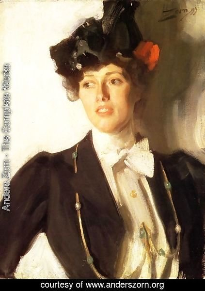 Anders Zorn - Martha Dana (or Mrs. William R. Mercer)