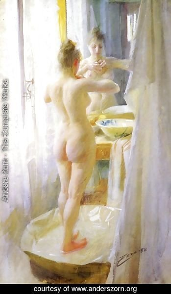 Anders Zorn - Le Tub (The tub)