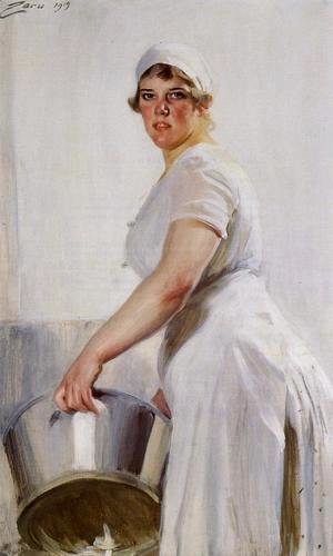 Anders Zorn - A Kitchen Maid