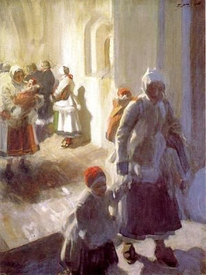 Anders Zorn - Christmas Morning Service
