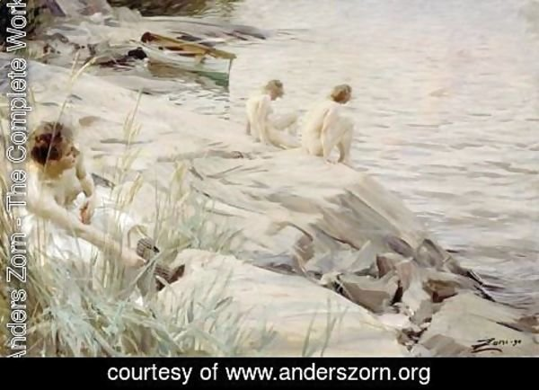 Anders Zorn - Bathing Girls