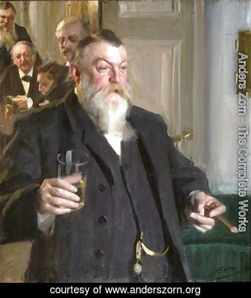 Anders Zorn - A Toast in the Idun Society