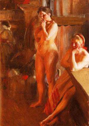 Anders Zorn - Firelight