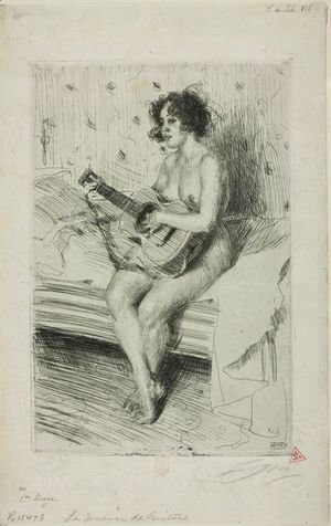 Anders Zorn - Guitar player