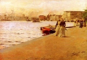 Anders Zorn - View from the Ship Island pier