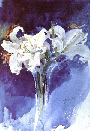 Anders Zorn - White Lilies