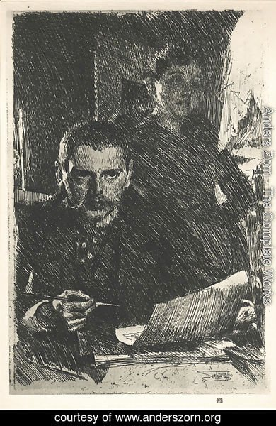 Anders Zorn - Zorn and his Wife
