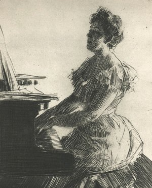 Anders Zorn - At the Piano