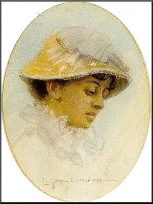 Anders Zorn - Emma Lamm in a straw hat