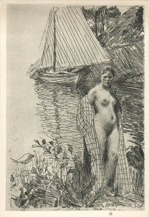 Anders Zorn - My Model and My Boat