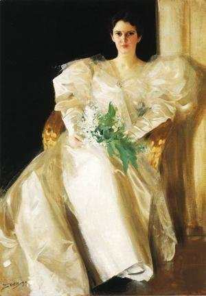 Anders Zorn - Portrait Of Mrs  Eben Richards